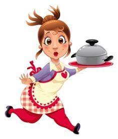 Девушка убегает от еды, чтобы похудеть