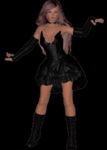 Девушка в сексуальном платье