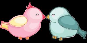 Две птицы чувственно общаются