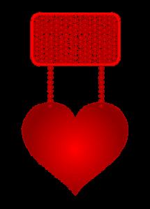 Наклейка с сердцем для любовного письма