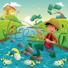 Муж ловит рыбу для любимой жены