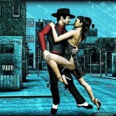 Мужчина с девушкой сексуально танцуют