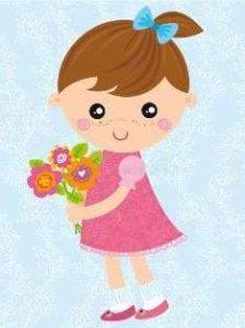 Красивая девочка с цветами