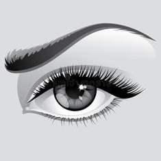 Строгий женский глаз